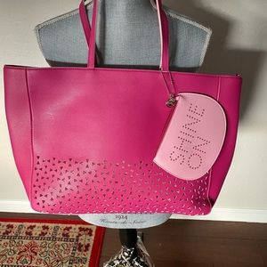 Bath & Body Works Pink Tote with Cosmetic Pouch